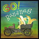 Go Bananas! - To act crazy. Lexicographer J. E. Lighter believes this expression alludes to the similar go ape, in that apes and other primates are associated with eating bananas. Used beginning in the second half of 1900's.