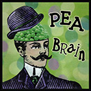 "Pea Brain - Someone who doesn't think before speaking. was used in exactly the same way from 1601. It was used by the American journalist Howard K. Smith in 1942, in his book ""Last Train from Berlin."""