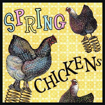 "Spring Chicken - This idiom is from the mid-1800's. Spring Chicken refers to a young chicken, about 1-2 years old. For people, this means that the person is young or inexperienced in the ways of the world.  But, you may hear this phrase used more as ""she's NO spring chicken"", meaning that the person is older and more experienced, or perhaps has ""been around the block a time or two…"""